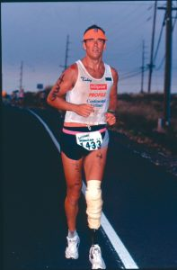 Jim MacLaren at Ironman Hawaii, 1992. Photo courtesy of The Challenged Athletes Foundation