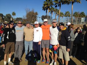 The gang posing for a post-race photo in January, 2014. Photo from Tony Berg