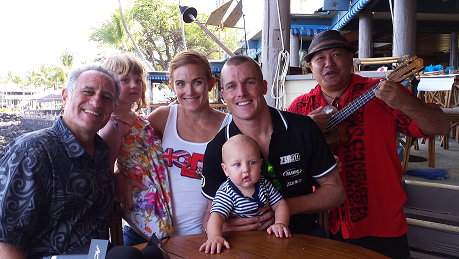 Nikki and Tyler Butterfield and family, after dad's interview on Breakfast with Bob, 2014
