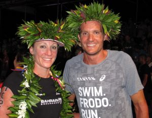 Daniela Ryf and Jan Frodeno were the Champion Warriors of the Day, winning the 2015 Ironman World Championship, then coming back to the finish line to greet the finishers all the way to midnight.