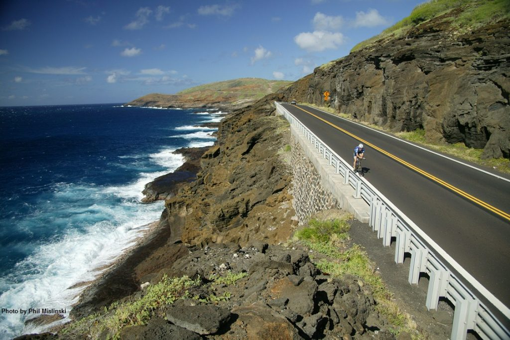 Part of the original Ironman bike course on the island of Oahu